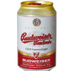 Bia Budweiser Budvar Original - lon thấp 330 ml thùng 24 lon