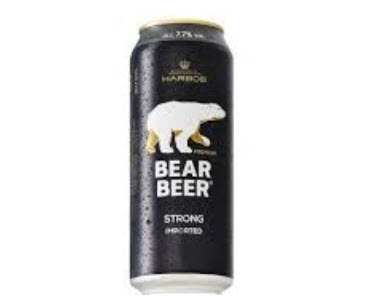 Bia Gấu Bear Beer Lon 500ml- vỏ đen