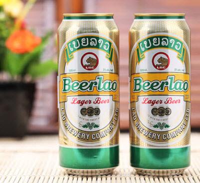 Bia Lào Lager lon 500ml thùng 24 lon nhập khẩu nguyên thùng