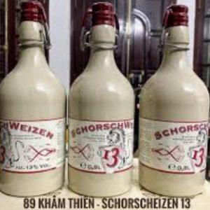 Bia nặng Schorsch Weizen 13% nút sứ – chai 500ml thùng 6 chai