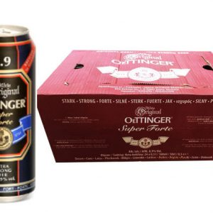 Bia nặng Oettinger 8,9% Đức – lon cao 500ml thùng 24 lon