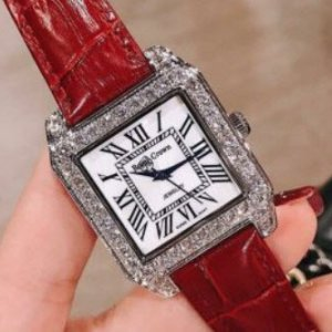 Đồng hồ Royal Crown dây da vuông đính đá