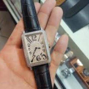 Đồng hồ Franck Muller dây da chữ nhật đá mặt – FM013