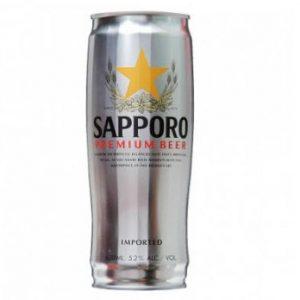 Bia Sapporo lon bạc cao 650ml thùng 12 lon