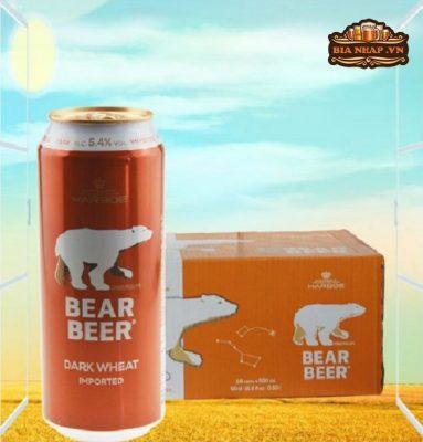 Bia gấu Bear Beer Dark Wheat 5,4% - lon 500ml
