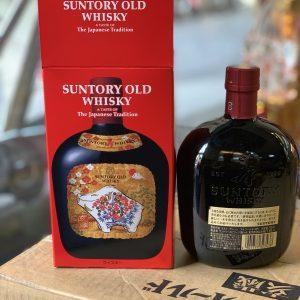 Rượu lợn Suntory Old Whisky tết Kỷ Hợi Nhật Bản