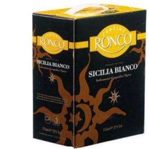 Rượu vang trắng Ronco Sicilia vang Ý bịch 3 lít