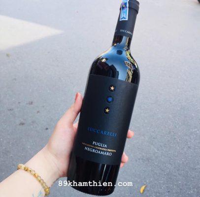 Rượu vang Luccarelli Negroamaro (Rượu vang 3 sao Luccarelli)