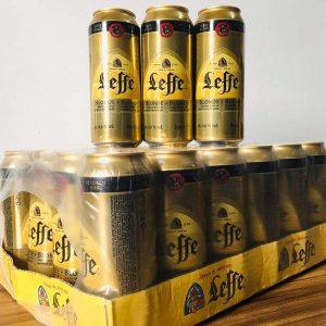 Bia leffe vàng lon 500ml Bỉ