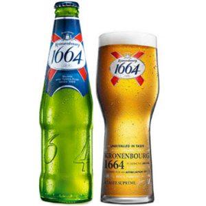 Bia Kronenbourg 1664 xanh lá cây