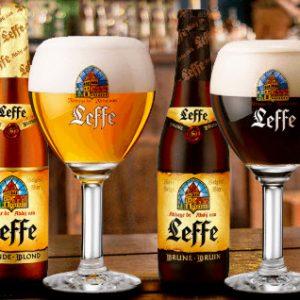 Bia Leffe Bỉ loại nâu và đen chai 330ml