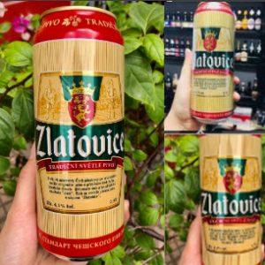 Bia Zlatovice Tiệp 4% – Lon 500ml - thùng 24 lon